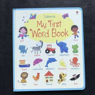 💥 NEW - Usborne- My First Word Book (My First Word Books) - Sturdy Board Book - Children Learning Book