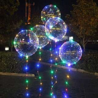LED balloon with fairy lights