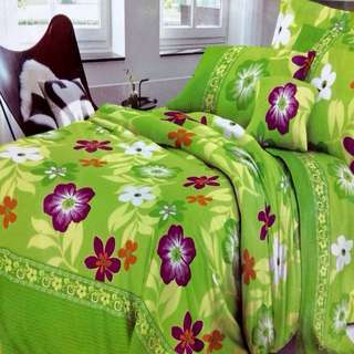 Bedtime Printed Bedsheet - Semi Cotton - 4 in 1 - Queen Size ONLY -