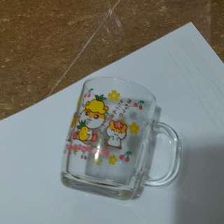 cK 鼠日本絕版2001年玻璃有耳杯9cm