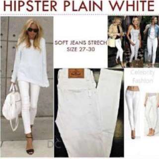 Hipster White Jeans - Size 28