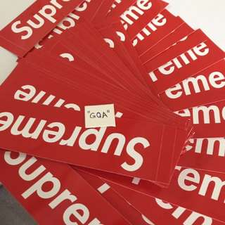 Supreme Red Box Logo Stickers GENUINE