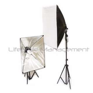 2 Sets Continuous Softbox Lighting Light Stand Kit With Carrying Case Light Stand Soft Box Photograph Photo Booth