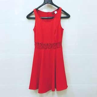 H&M Red Skater Dress