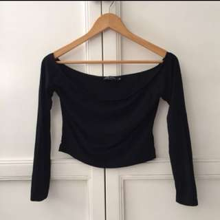 Zalora Black Off Shoulder