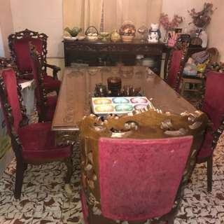 Narra Dining Set - 6 Chairs