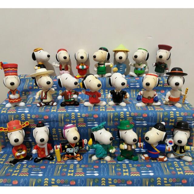 [絕版]1999年Snoopy 環遊世界 一套21個/麥當勞玩具/McDonald's史奴比 世界之旅 #有超去最好買
