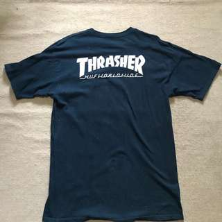 Huf x Thrasher Navy Tee Size Large