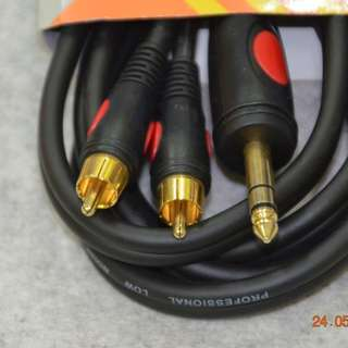 "Soundking SKBI115/3M Cable (Stereo 1/4"" to RCA)"