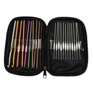 22pcs Set Multi-colour Aluminum Crochet Hooks Needles Knit Weave Craft Yarn #BlackFridaySale #CyberMondaySale