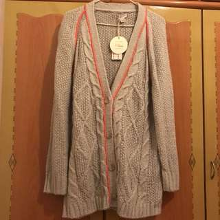 Cotton on長針織外套 厚料 厚身