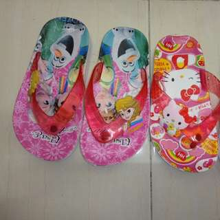 💕SLIPPERS ELSA & HELLO KITTY KIDS/SALE💕#semuarm5