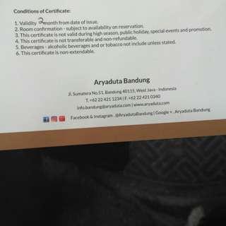 Arya duta bandung room Superior including breakfast for 2 person