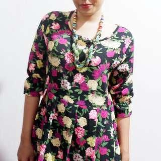 Mini Floral Dress Korea