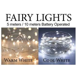 Fairy Pixie String Lights 5 or 10 meters (Battery-operated)