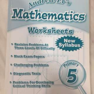Mathematics Worksheets for Primary 5