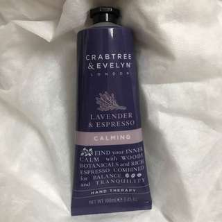 Brand New - Crabtree & Evelyn Lavender & Espresso Calming Hand Therapy