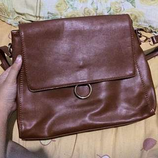 Vintage Brown Slingbag by Zalora