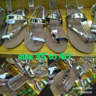 Hardsole flat sandals