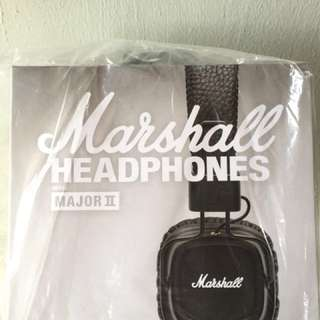 Marshall Major II Headphones brand new (Wired model)