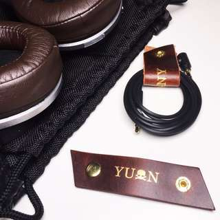 Personalised Leather Cord Holder (Custom, Personalized, Handmade) | Avaloncraft Leather Goods
