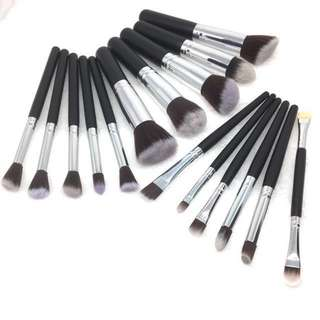INSTOCK: 16pcs FULL Stippling Brush Set Face & Eye Liquid Foundation Cream Makeup Professional Mini Cosmetic Tools