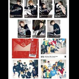 PRE-ORDER BTS Japan official DNA CD 4types+clear file set
