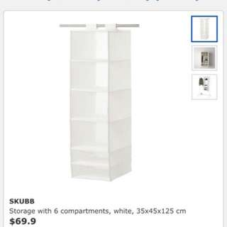 3x Clothes storage/ organiser