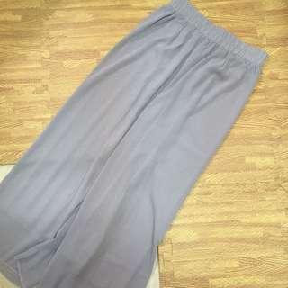 近全新灰色垂感寬褲有內裡