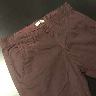 River Island Maroon Chinos Size 28