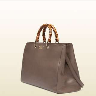 Gucci Brown Bamboo Shopper