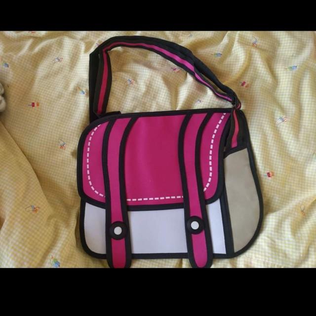 2D cartoon bag