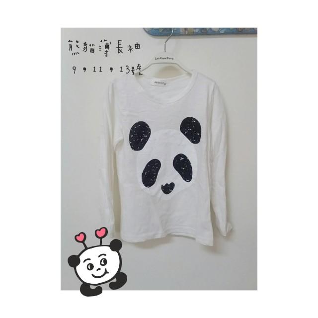 熊貓薄長袖#寶貝過新年