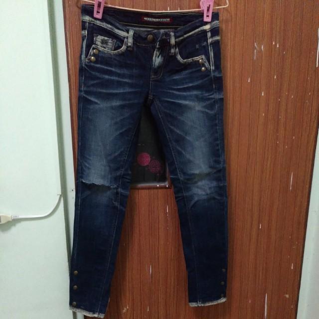 正韓復古刷色牛仔褲