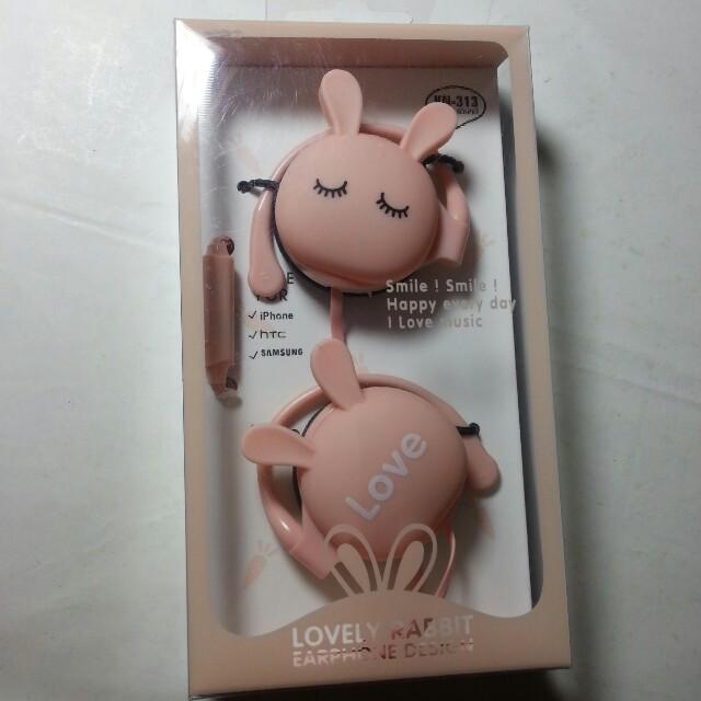 粉紅兔耳機 #好物任你換