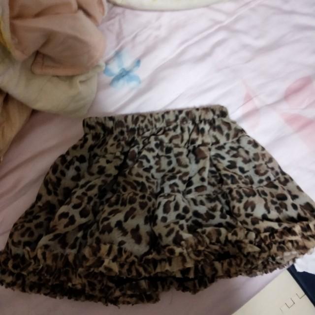 豹紋 蓬蓬裙