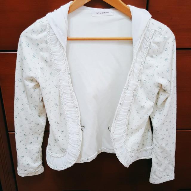 超氣質 米色 碎花 罩衫