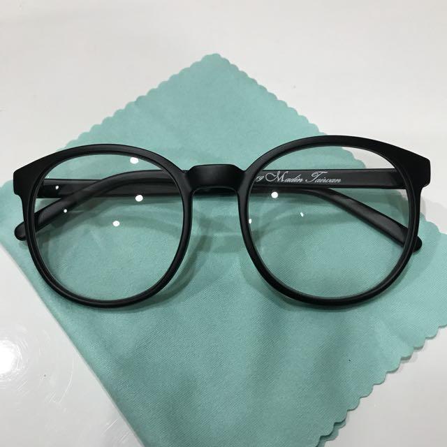 復古 圓框眼鏡 台灣製 霧面黑 細框 學院風 韓風 基本款 百搭