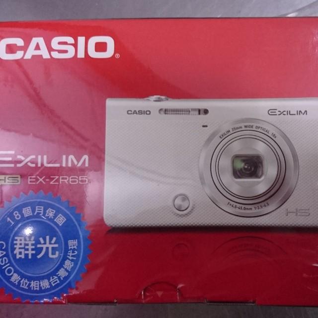 全新 卡西歐 CASIO EX-ZR65WE 白色 ZR65 翻轉螢幕相機