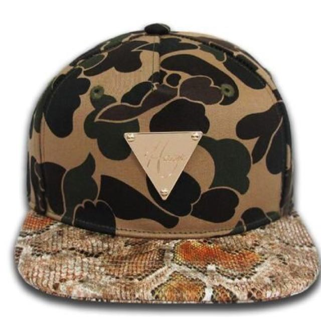 全新 HATer 2013 CAMO Jungle Python Strapback 迷彩叢林蟒蛇金尾扣 棒帽 SZ:F