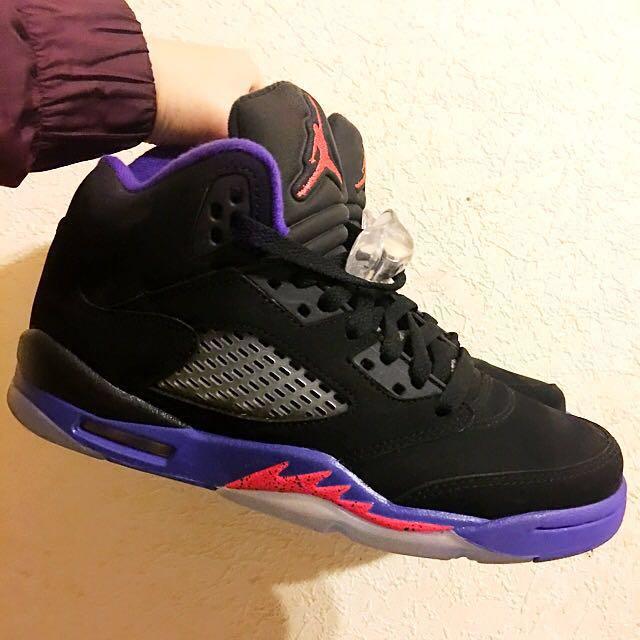 降‼️近全新 Jordan 5 五代 黑紫#運費我來出