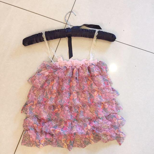 粉色小花性感小背心 size:S 含郵資運費
