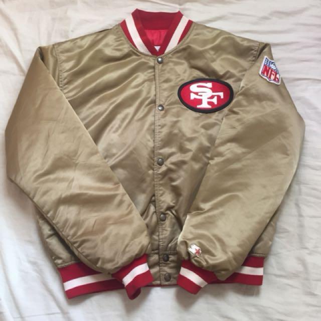 古著 Starter proline NFL 49人 49ers 大圖 棒球 外套 夾克