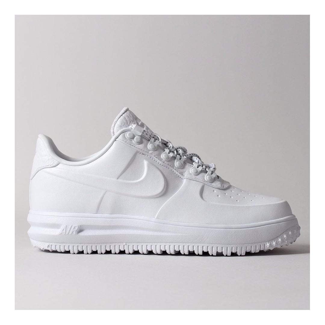 promo code 5ceae 2f379 ... uk xmas promo nike lunar force 1 duckboot low premium shoes white white  white mens fashion