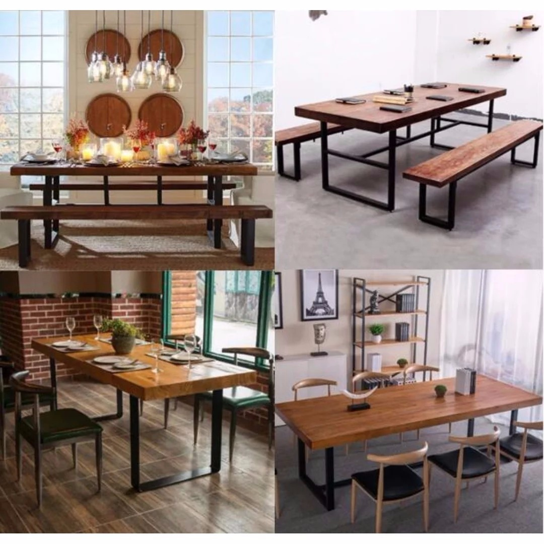 wood chairs bench dinette room brown anniston sets table piece casual dining set warm with
