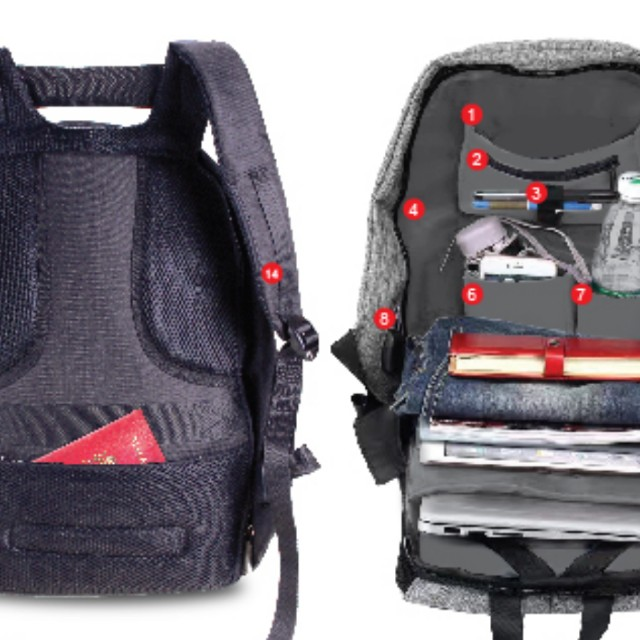 b43d1639597f Anti Theft Laptop Backpack Nike Adidas iPhone