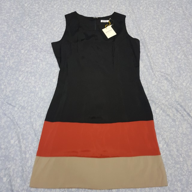 Arrow orange black casual or office dress