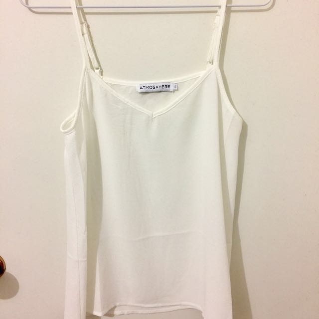 Atoms & Here White Cami Singlet