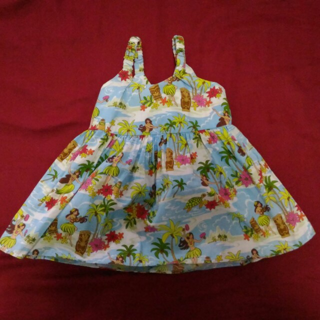 baby dress with hawaiian design