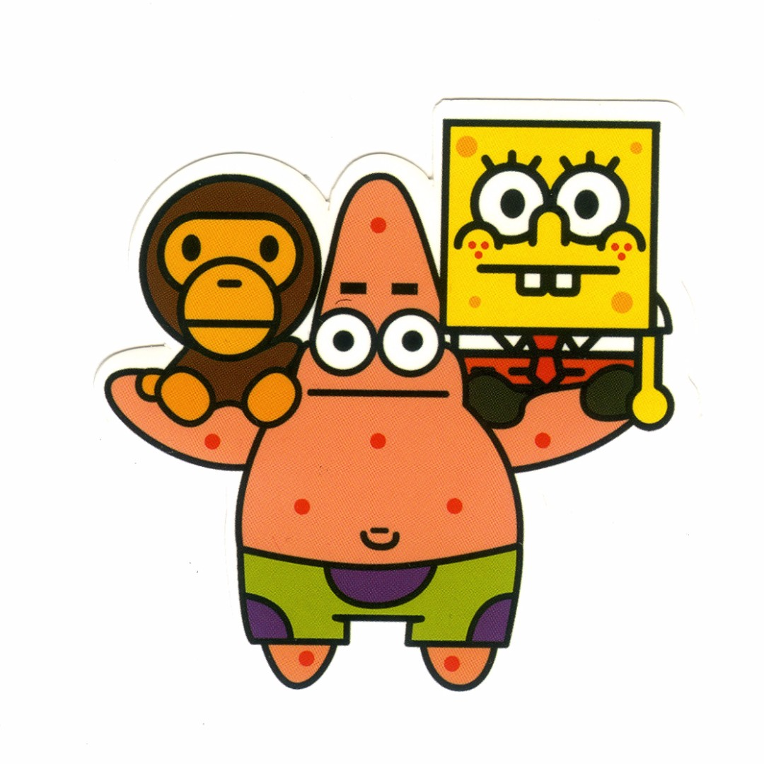 Baby Milo, Patrick Star, and SpongeBob Sticker LIMITED EDITITION
